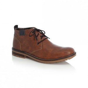 Rieker B1340-22 Brown Mens Casual Comfort Lace Up Ankle Boots