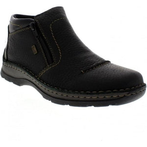 Rieker 05372-00 Black Mens Casual Comfort Wide Fit Ankle Boots