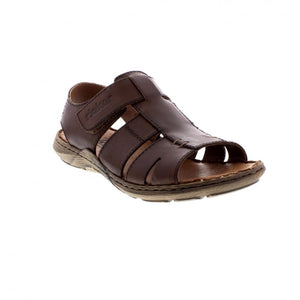 Rieker 22073-25 Brown Men's Casual Leather Touch Fastening Sandals