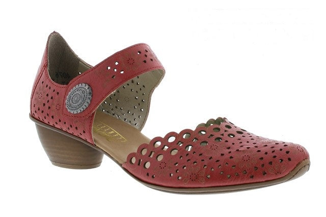 Rieker 43753-33 Red Womens Casual Comfort Touch Fastening Shoes