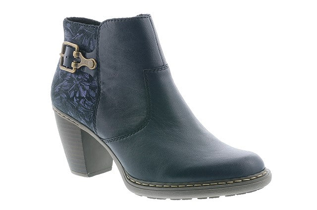 Rieker 55292-14 Navy Womens Casual Comfort Evening Ankle Boots