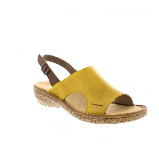 Rieker 628C5-68 Yellow Womens Casual Comfort Sandals