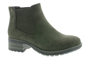 Rieker 96884-54 Olive Womens Casual Comfort Slip On Ankle Boots
