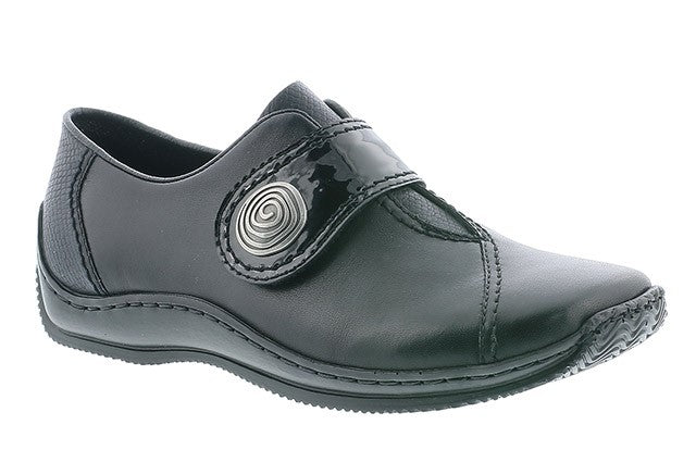 Rieker L1760-00 Black Womens Casual Comfort Leather Shoes
