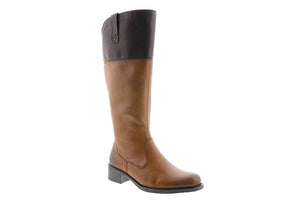 Rieker Z7352-24 Tan Womens Casual Comfort Riding Style Knee High Boots