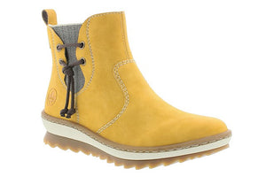 Rieker Z8691-68 Yellow Womens Casual Comfort Stylish Ankle Boots Size EU36