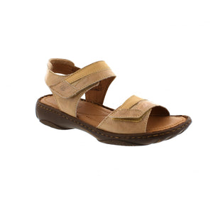 Josef Seibel Debra 19 Sand Womens Casual Leather Open Toe Touch Fasten Sandals