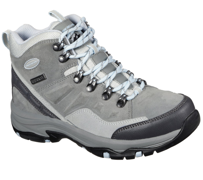 Skechers 158258/GRY Grey Womens Casual Comfort Lace Up Walking Boots