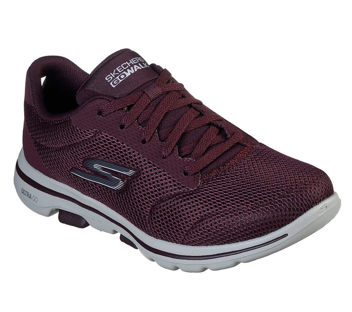 Skechers 15902/BURG Burgundy Womens Casual Comfort Lace Up Trainers