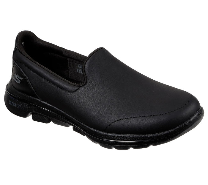Skechers 15923 BBK Black Polished Slip On Lightweight Shoes