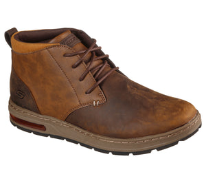 Skechers 210141/CDB Brown Mens Casual Comfort Leather Lace Up Ankle Boots