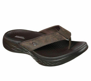 Skechers 54255/CHOC Chocolate Mens On The Go Toe Post Sporty Flip Flops