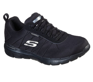 Skechers 88888400/BBK Black Womens Sporty Waterproof Trainers