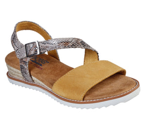 Skechers 113004/YEL Yellow Womens Casual Comfort Open Toe Slingback Sandals