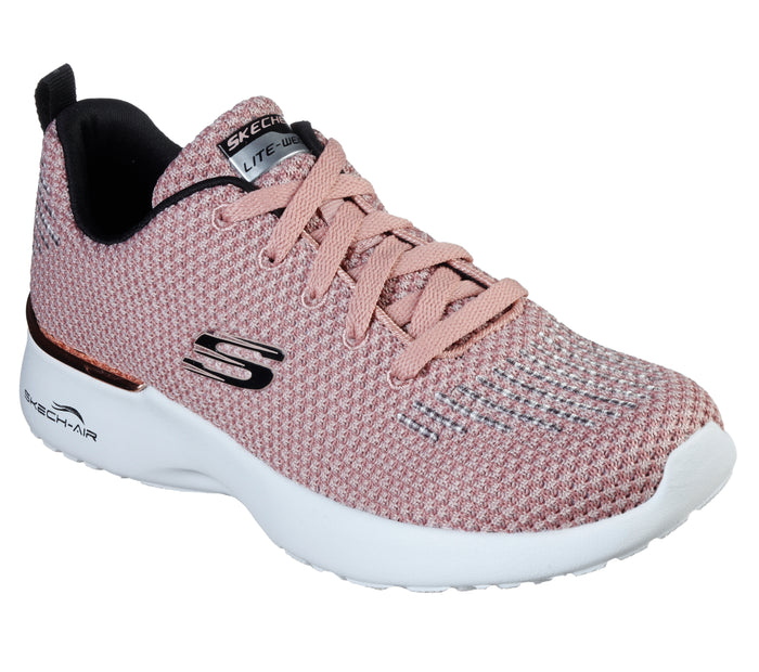 Skechers 12946/ROS Pink Womens Casual Comfort Lace Up Trainers