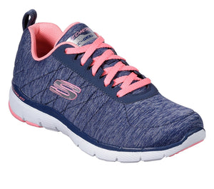 Skechers 13067/NVCL Navy Womens Sporty Comfort Lace Up Trainers