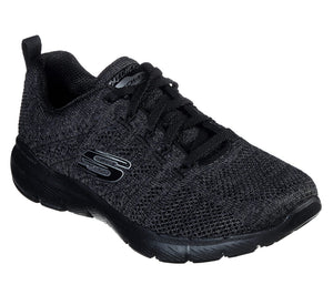 Skechers 13077/BKCC Black Womens Sporty Leisure Trainers