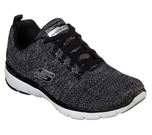 Skechers 13077/BKW Black Womens Sporty Leisure Trainers