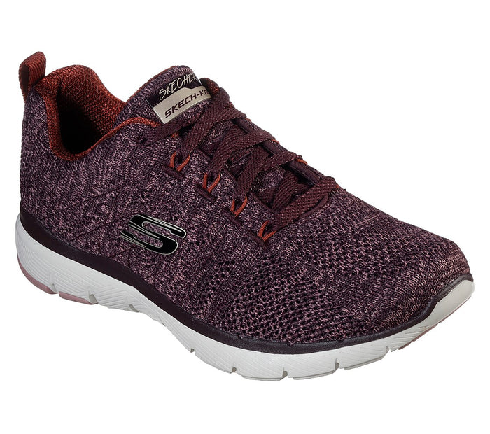 Skechers 13077/BURG Burgundy Womens Sporty Leisure Trainers