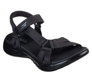 Skechers 15316 BBK Black Womens Casual Comfort Touch Fastening Sandals