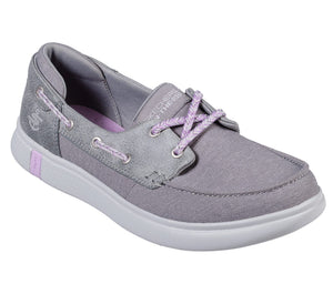 Skechers 16110/GRY Grey Womens Casual Canvas Casual Comfort Boat Shoes