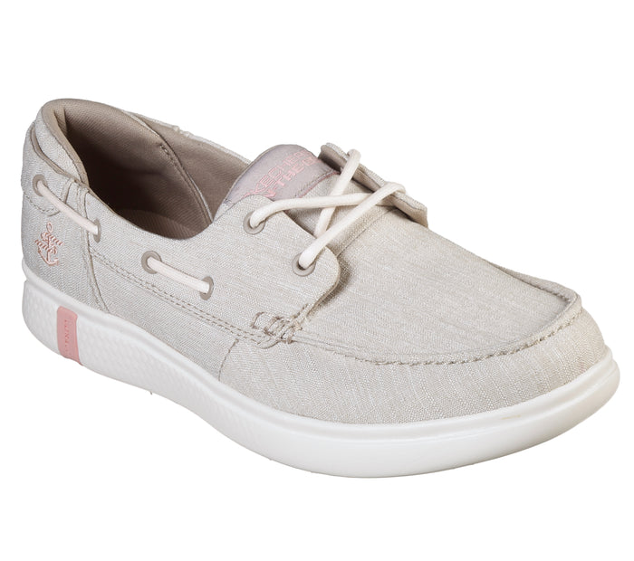 Skechers 16113/NAT Natural Womens Casual Comfort Lace Up Boat Shoes