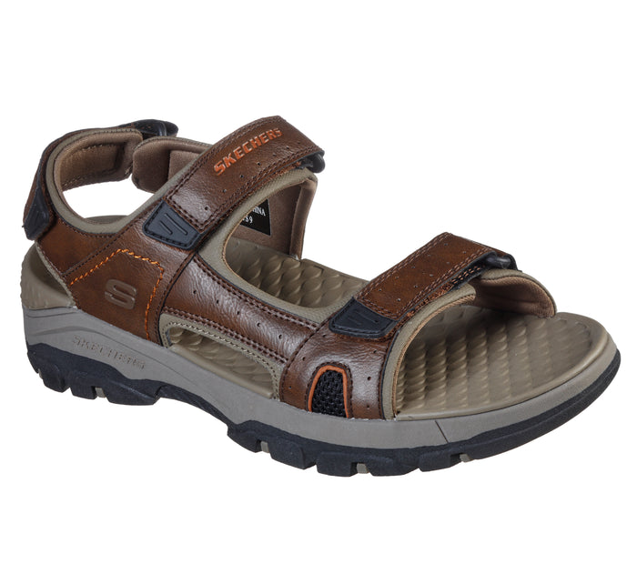 Skechers 204106/BRN Brown Mens Casual Comfort Touch Fastening Open Toe Sandals