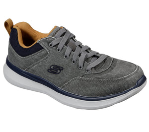 Skechers 210024/CHAR Charcoal Mens Casual Comfort Lace Up Shoes