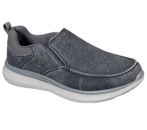 Skechers 210025/BLU Blue Mens Casual Comfort Slip On Shoes