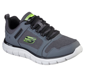 Skechers 232001/CCBK Charcoal Mens Casual Comfort Lace Up Trainers
