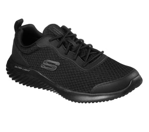 Skechers 232005/BBK Black Mens Casual Comfort Lace Up Trainers