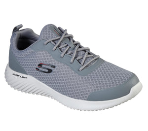 Skechers 232005/GRY Grey Mens Casual Comfort Lace Up Trainers