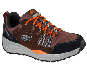 Skechers 237023/BRBK Brown Mens Casual Comfort Hiking Trainers