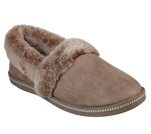 Skechers 32777/DKTP Taupe Womens Soft Slip On Slippers
