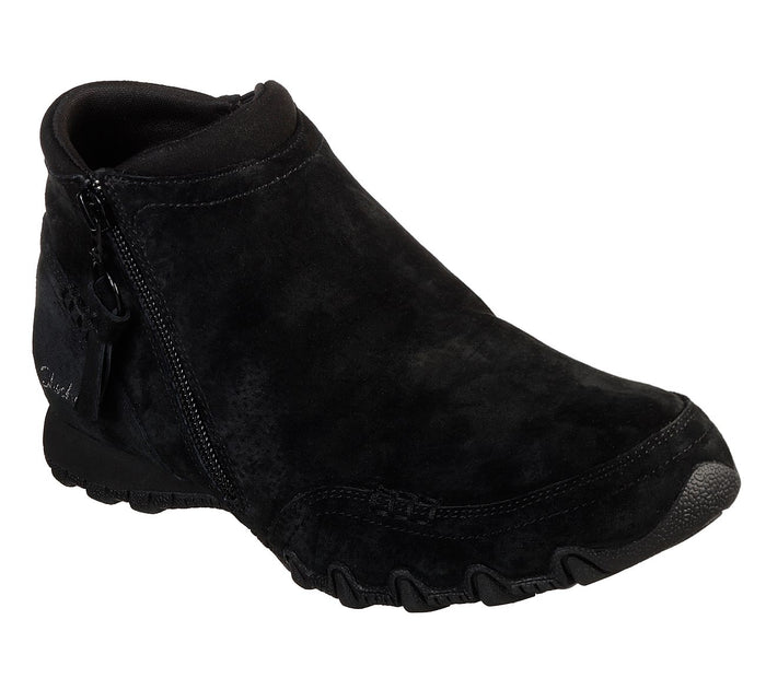 Skechers 49590/BLK Black Womens Casual Comfort Ankle Boots