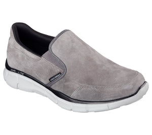 Skechers 51502/CHAR Charcoal Mens Casual Comfort Slip On Suede Memory Foam Shoes