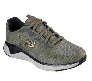 Skechers 52758/OLBK Olive Mens Casual Comfort Lace Up Trainers
