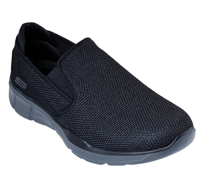 Skechers 52937/BKCC Black Mens Casual Slip On Athletic Walking Shoes