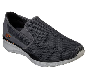 Skechers 52937 CCOR Charcoal Orange Men's Casual Slip On Athletic Walking Shoes