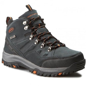 Skechers 64869/GRY Grey Mens Waterproof Hiking Comfort Boots
