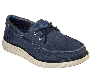 Skechers 65908 NVY Navy Mens Casual Comfort Vintage Style Boat Shoes