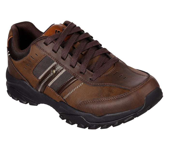 Skechers 66015/CDB Chocolate Mens Casual Comfort Lace Up Shoes