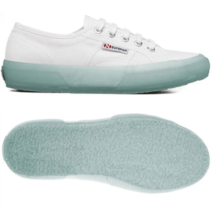 Superga 2750 COTU White (Transparent Sole) Womens Casual Comfort Canvas Trainers