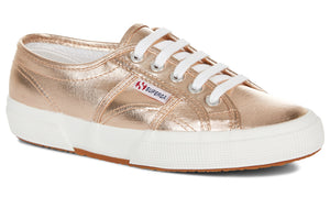 Superga 2750 Cotmetu Rose Gold Womens Casual Stylish Metallic Shoes