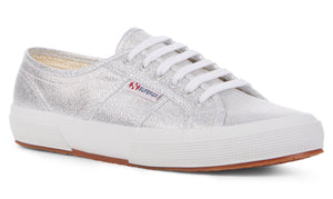 Superga 2750 Lamew Grey Silver Womens Casual Stylish Canvas Shoes