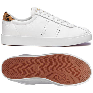 Superga 2843 COMFLEAUPARDU White/Jaguar Womens Casual Comfort Trainers