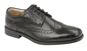 TredFlex TF5069A Black Men's Leather Smart Formal Classic Brogues Shoes