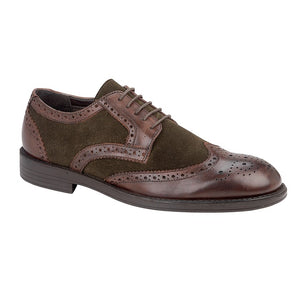 Tredflex TF5914B Brown Mens Smart Formal Leather Lace Up Brogues
