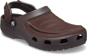 Crocs Yukon 2 Vista Clog Espresso Mens Slip On Leather Shoes Walking Casual Sandals
