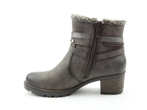 Heavenly Feet Fizz Grey Casual Comfort Vegan Friendly Ankle Boots